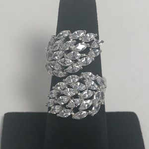 Jewelry - Gorgeous 925 Sterling Silver AAA CZ Wing Ring
